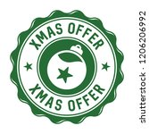 xmas offer vector badge   Shutterstock .eps vector #1206206992