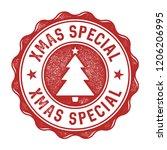 xmas special vector badge   aged   Shutterstock .eps vector #1206206995