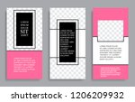 vector editable templates for... | Shutterstock .eps vector #1206209932