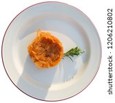 cabbage stew on white background | Shutterstock . vector #1206210802