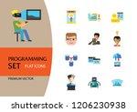 programming icon set. robot... | Shutterstock .eps vector #1206230938