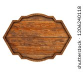 wooden sign boards isolated on... | Shutterstock . vector #1206240118