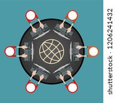vector infographic with topic... | Shutterstock .eps vector #1206241432