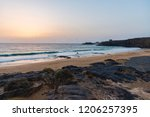 cotillo beach in the north... | Shutterstock . vector #1206257395