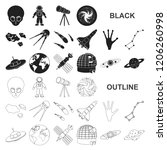 space technology black icons in ...   Shutterstock .eps vector #1206260998