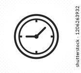 clock icon. clock icon in... | Shutterstock .eps vector #1206263932