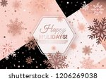 happy holidays background with... | Shutterstock .eps vector #1206269038