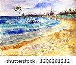 ayia napa seaport | Shutterstock . vector #1206281212