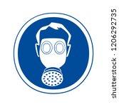 respirators must be worn in... | Shutterstock . vector #1206292735
