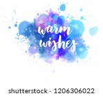 warm wishes decorative... | Shutterstock .eps vector #1206306022