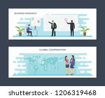 business and global research... | Shutterstock .eps vector #1206319468