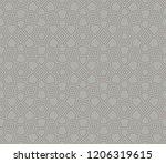 vector geometric seamless... | Shutterstock .eps vector #1206319615