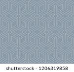 vector geometric seamless... | Shutterstock .eps vector #1206319858