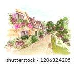 illustration of color... | Shutterstock . vector #1206324205