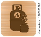 camping stove with gas bottle... | Shutterstock .eps vector #1206325588
