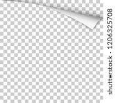 vector sheet of transparent... | Shutterstock .eps vector #1206325708