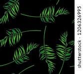 vector vintage botanical... | Shutterstock .eps vector #1206326995