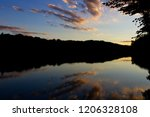 a shot of an illinois lake at... | Shutterstock . vector #1206328108