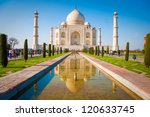 Taj Mahal On A Bright And Clea...