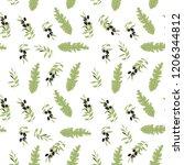 leaves seamless pattern for... | Shutterstock .eps vector #1206344812