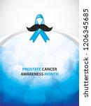 prostate cancer awareness month.... | Shutterstock .eps vector #1206345685