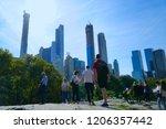 central park  manhattan new... | Shutterstock . vector #1206357442