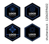 vector logo design elements set ... | Shutterstock .eps vector #1206359602