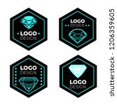 vector logo design elements set ... | Shutterstock .eps vector #1206359605