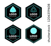 vector logo design elements set ... | Shutterstock .eps vector #1206359608