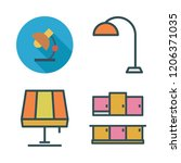 furniture icon set. vector set... | Shutterstock .eps vector #1206371035