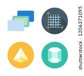 lines icon set. vector set... | Shutterstock .eps vector #1206371095