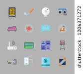 home icon set. vector set about ... | Shutterstock .eps vector #1206371272