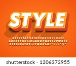 3d bold and strong modern... | Shutterstock .eps vector #1206372955