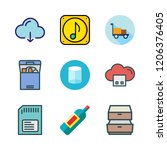 storage icon set. vector set... | Shutterstock .eps vector #1206376405