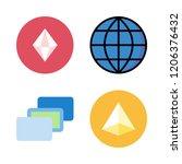 lines icon set. vector set... | Shutterstock .eps vector #1206376432