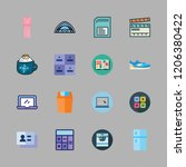 object icon set. vector set... | Shutterstock .eps vector #1206380422