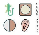 eye icon set. vector set about... | Shutterstock .eps vector #1206390325