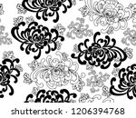 black and white vector seamless ... | Shutterstock .eps vector #1206394768