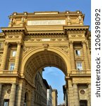 arcone triumphal arch with... | Shutterstock . vector #1206398092