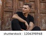 handsome young american model...   Shutterstock . vector #1206398968