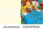 cartoon fairy tale scene with... | Shutterstock . vector #1206399028