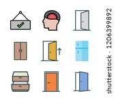 closed icon set. vector set... | Shutterstock .eps vector #1206399892