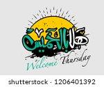 arabic calligraphy hala bel... | Shutterstock .eps vector #1206401392