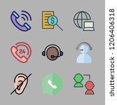 talking icon set. vector set... | Shutterstock .eps vector #1206406318