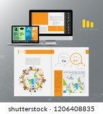 business brochure layout  vector | Shutterstock .eps vector #1206408835