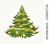 beautiful christmas tree... | Shutterstock .eps vector #120641716