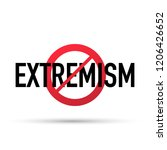 no extremism campaign icon.... | Shutterstock .eps vector #1206426652