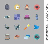 grey icon set. vector set about ... | Shutterstock .eps vector #1206427348