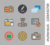 picture icon set. vector set... | Shutterstock .eps vector #1206436708