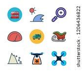 motion icon set. vector set... | Shutterstock .eps vector #1206436822